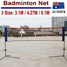 Portable Badminton Net  Net With Frame Stand Foldable 3/4/5/6M