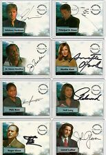 Smallville Autograph & Pieceworks Card Selection NM Inkworks