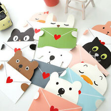 1pcs Lovely Cute Animals Blank Greeting Card Birthday Invitation Cogratulations