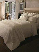 LUXURIOUS NEW YVES DELORME ENLACER SATEEN DAMASK 700 THREAD COUNT PILLOW SHAMS