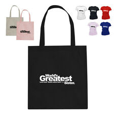 Worlds Greatest Sister (Custom) Gift Cotton Tote Bag
