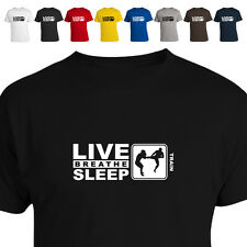 MMA Shorts Fighter T Shirt Eat Live Breathe Sleep  Gift Train 011