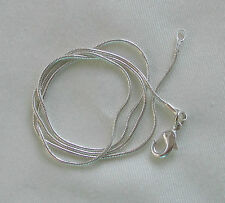 """Jewellery Craft Design - Silver Plated Snake Chain Chains Findings 24"""" PACKS"""