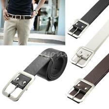 Fashion Mens Metal Buckle Business Casual Dress Leather Belt Single Prong Belt