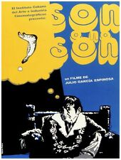9304.Son o no son.cuban film.man sits on chair.POSTER.decor Home Office art