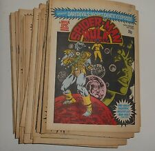 Vintage 1970's Marvel - SPIDERMAN and HULK Weekly Comics - Loads to Choose From