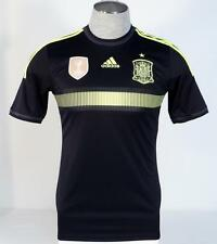 Adidas ClimaCool Spain 2014 World Cup Black & Neon Away Football Jersey Mens NWT