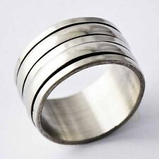 Wide Titanium Stainless Steel  Mens Band Ring SZ 7-11 A2089- A2093