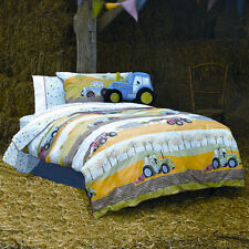 Hiccups Field Days Tractors Boys Childrens Farm Duvet Quilt Cover Bedding Set