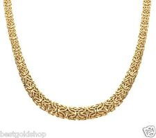 "QVC 18"" 20"" Graduated Mirrored Byzantine Necklace Real 14K Yellow Gold J275748"