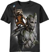 Guardians of the Galaxy Fully Loaded Groot Rocket LIC NWT Adult T-Shirt -