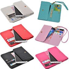 luxury Wallet Card Holder Full multifunction Cover Case For Karbonn mobile phone