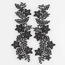 1 Pair Applique Black Or White Polyester Venise Lace Trims Craft For Sewing