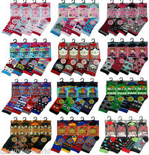 6 PAIRS GIRLS BOYS CHILDRENS COMIC CHARACTER COTTON BLEND DESIGNER NOVELTY SOCKS