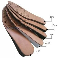 2 Pairs Genuine Leather Insole Height Increase Pad Shoe Inserts Men EURO 39-43