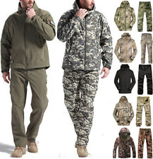 Men Outdoor Suits Waterproof Coats Jacket & Pants Army Military Camo Outerwear