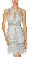 NWT Sue Wong ROXY DECO FEATHERS FEATHER Dress GATSBY  4 8 14