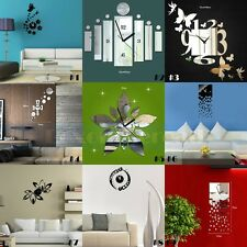 Luxury 3D Frameless Wall Clock Watches Sticker Hours DIY Home Decorations