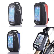 Bicycle Cycling Bike Pannier Front Frame Tube Bag Case Pouch For Cell Phone US