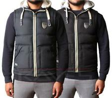 Mens Gilet Bodywarmer Max Edition Hoodie Padded Quilted Sleeveless Jacket Coat