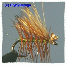 Olive Elk Hair Caddis Dry Fly Fishing Flies - Choice of Quantity and Hook Size