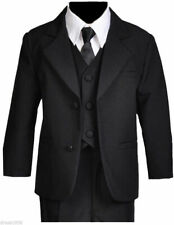 Boy Recital, Ring BearerGraduation Formal Suit Set,  Black, Size: Medium to 14