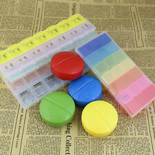 7 Days Weekly Tablet Pill Holder Storage Container Organizer Case Medicine Box