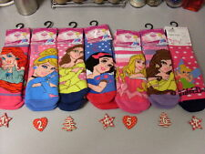 DISNEY SLIPPER SOCKS - TINKERBELL ARIEL SNOW WHITE CINDERELLA BELLE PRINCES