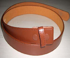 """#4333 - TAN 1.5"""" WIDE STITCHED LEATHER WITH SNAP CLOSURES FOR BELT BUCKLES"""