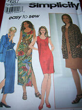 SIMPLICITY #7687- LADIES ~ EASY TO SEW ~ SLEEVELESS DRESS & SHIRT PATTERN 8-24uc