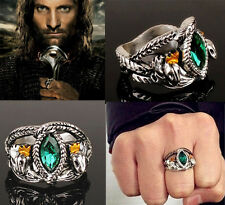Lord of Rings Aragon's Ring Barahir Leopard LOTR Crystal Wedding Ring 4 Size KJ