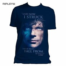 Official T Shirt Game of Thrones STRUCK A King Tyrion Blue All Sizes