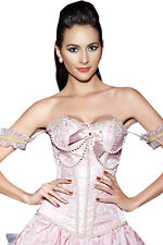 Victorian Corsage ROCOCO Sexy Lady Corsage Corset Boob Tube Pink Rose UK6-12 New