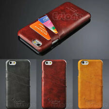 Luxury PU Leather Hard Credit Card Back Case Cover holder for iphone 6 4.7inch