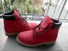 TIMBERLAND KIDS 6 IN PREMIUM October RED Villa BootsYOUTH 4Y-7Y 6598R WATERPROOF