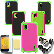 Case for Google Nexus 4 LG  Cover Skin Faceplate PC Silicone Screen