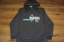 TAMPA BAY RAYS MAJESTIC MLB TEAM FAVORITE 1/4 ZIP AUTHENTIC HOODED SWEATSHIRT