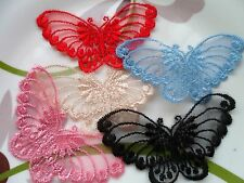 Butterflies Venise Lace Trim Craft Appliques 8pcs & 12pcs