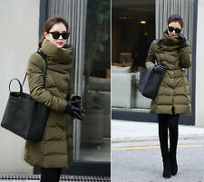 Hot sale Women Winter Warm White Duck Down Jacket Thicken Slim Long Coats Parka