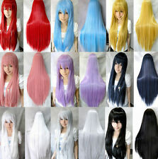 80cm/32'' Long Heat Resistant Hair Straight Cosplay Party Anime Womens/Girls Wig
