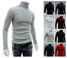 Fashion Mens Thermal Cotton Turtle Polo Neck Skivvy Turtleneck Sweater Shirts -Y
