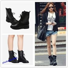 Fashion Women's Cool Black Punk Knight Lace-up Winter Warm Boots Shoes 7 Sizes