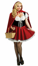 Womens Little Red Riding Hood Halloween Party Costumes Fancy Dress 8 10 14 16 18