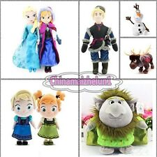Promotion Disney FROZEN Anna Elsa Childhood Olaf Kristoff Sven Troll Plush Doll