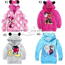 Frozen Minnie Mouse Kid Girls Toddler Baby Hooded T Shirt Top Sweatshirt Clothes