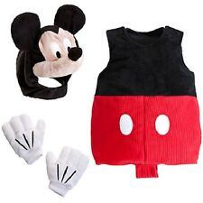 MICKEY MOUSE~Costume~Plush~BoDySuIT+HooD FaCe+GLoVeS+SqUeAk~NWT~Disney Store