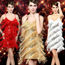 CHEAP Flapper Vintage Fringe Sequins Latin Dance Ballroom Evening Party Dress RH