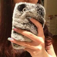 Rabbit fur plush phone protective Case Cover For iphone 6 6plus 5s 5 4s Samsung
