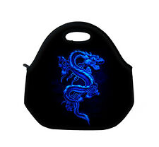 Blue Dragon Neoprene Travel Food Picnic Bag Insulated Lunch Bag Cool Bag Handbag