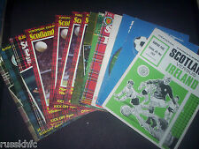 SCOTLAND HOME PROGRAMMES CHOOSE FROM + FREE POSTAGE